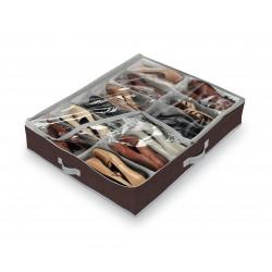 Domopak - organizér na 12 párů obuvy - hnědý