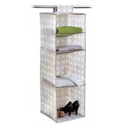 Dk Living Ella Hanging organizer 4 shelves - Beige