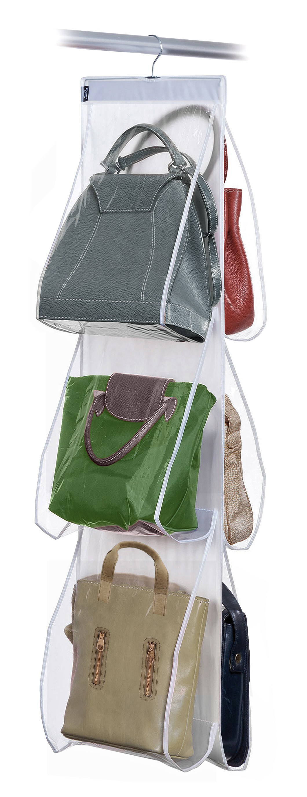 3c35a4bb88 Dk Living Hanging Handbags Organizer - 6 large pockets - Savitar Brands