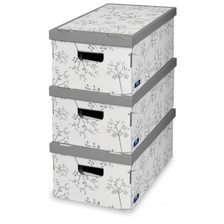 Sada 3 ks úložných boxů -Grey