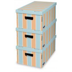 Sada 3 ks úložných boxů -Stripes