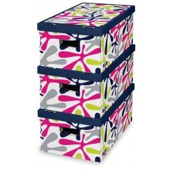 Sada 3 ks úložných boxů - Mix