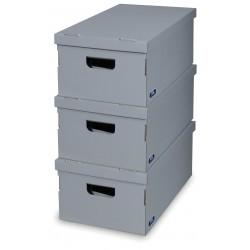 Sada 3 ks úložných boxů - Grey