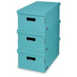 Sada 3 ks úložných boxů -Turquiose