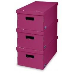 Sada 3 ks úložných boxů - Purple