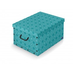 Dk Living Box with handles - Ella design - Turquoise