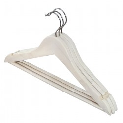 Dk Living 3 pcs/set Kid Hangers - Clear wood